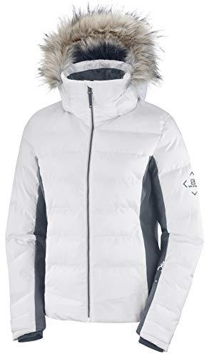 Salomon Damen Ski-Jacke, STORMCOZY JACKET W, Polyamid/Polyester, Weiß, Größe: M, LC1381700