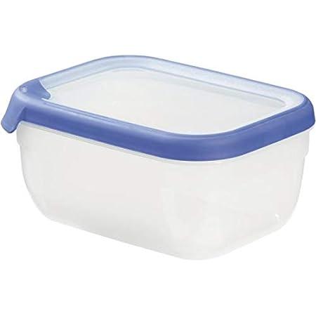CURVER Boîte Grand Chef - Alimentaire Transparente Rectangulaire Plastique - Capacité 1,8L - Boîte Conservation Tous Types d'Aliments - Adapté au Micro-Ondes, Lave-Vaisselle, Congélateur- Bleu