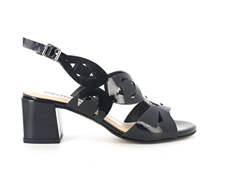 Melluso Sandalo Donna k35135 in Vernice Nero con Sottopiede in Memory Foam 36