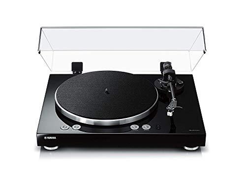 Yamaha MusicCast Vinyl 500 - Tocadiscos (Tocadiscos de tracción por Correa, Negro, Aluminio, 33 1/3,45 RPM, DC Motor, Digital)