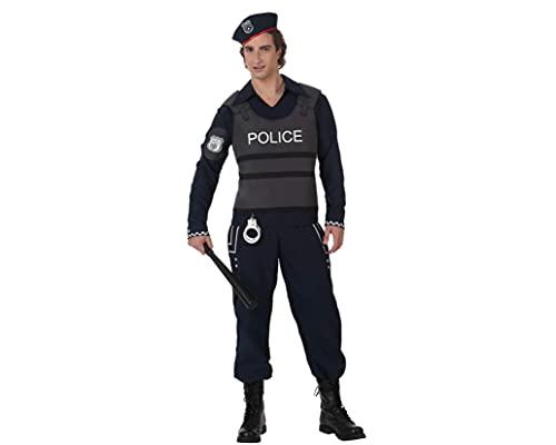 ATOSA disfraz policia especial hombre adulto XL