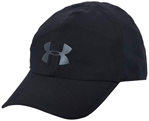 Under Armour 1351463-001 Gorra Run Shadow Cap para Correr para Unisex, Negro, Unitalla
