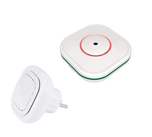 COFEM Kit Rauch- und Kohlenmonoxid-Melder (CO) autonom vernetzbar und WiFi-Modul für Eyehome-Detektoren mit Smartphone-App | zertifiziert nach EN 50291-1