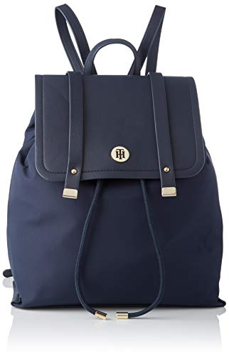 Tommy Hilfiger Damen Th Elegant Backpack Umhängetasche, Blau (Sky Captain), 23x30x15cm