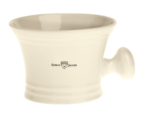 Edwin Jagger Porcelain Ivory Shaving Bowl with Handle