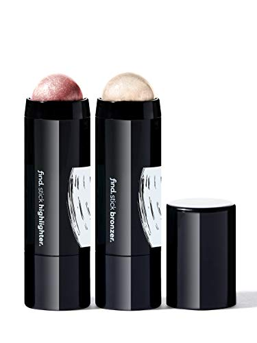 Marca Amazon - find. Cheek Sculptor Duo (Iluminador en barra n.1 + Colorete en barra)