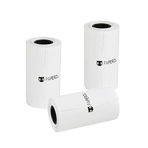 DD Papel Rollo para Mini Impresora, 57mm x 30mm Térmico Papel para Paperang P1/P1S/P2 Portátil Bluetooth Bolsillo Foto Printer (Blanco/Autoadhesivo)