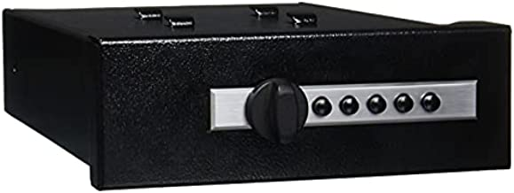 """Titan Gun Safe Pistol Vault, Fail-Safe Mechanical Lock Fast Rugged Handgun Safe with Auto Delivery Holster & Two Quick Release Brackets accommodate guns up to 10"""" long with light, Model AS-2020-02"""