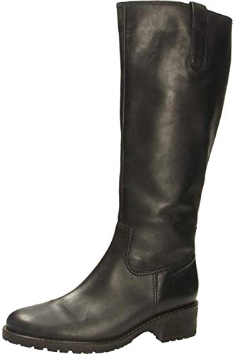 Gabor Damen Stiefel 36.097, Frauen Stiefel,Boots,Langschaftstiefel,gefüttert,Reißverschluss,schwarz,37.5 EU / 4.5 UK