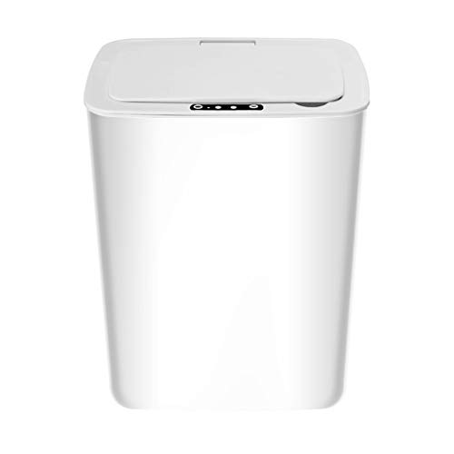 VVXXMO Papelera eléctrica de inducción automática inteligente,Tipo Recargable Papelera