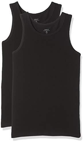 NAME IT Nkmtank Top 2p Noos Camiseta, Negro (Schwarz Black), 146 (Pack de 2) para Niños