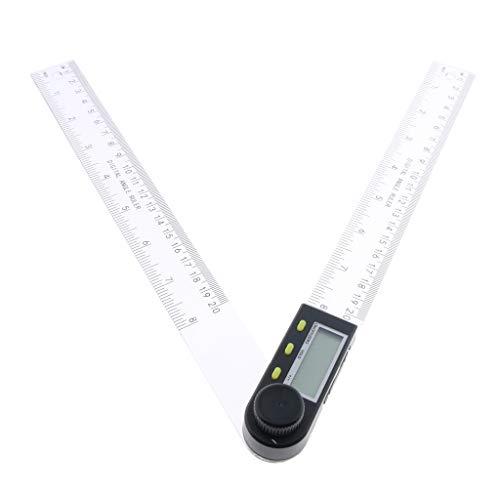 B Blesiya 0~360 ° 100 Mm / 200 Mm / 300 Mm Regla De ángulo Digital Inclinómetro Medidor De ángulo Medidor Buscador