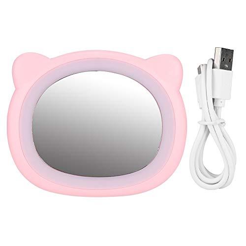 Cosmetic Mirror with Light - Miroir de maquillage, Miroir de maquillage portatif Mini Fill Light Mirror avec USB (2 couleurs) (Couleur : Rose)