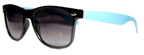 FIKO WAYFARER - Gafas de sol bicolor tipo polarizadas - Gafas de sol clásicas unisex - Unisex - Hombre - Mujer - Vintage - Color azul