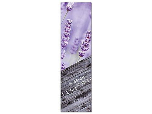 GRAZDesign Blumen Wandbilder Wohnzimmer, Acrylglasbilder Lavendel, hochkant, Deko romantisch Shabby Chic Landhausstil / 50x180cm