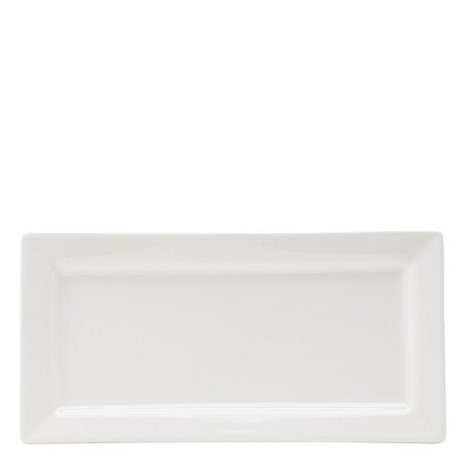 Utopia Anton Noir en porcelaine fine Z03029–000000-b01006 Matrix Assiette Rectangulaire, 24,1 x 11,4 cm (lot de 6)