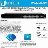 EdgeSwitch 24-Port ES-24-500W 500-Watt Managed PoE+ Gigabit Switch with 2 SFP Ports