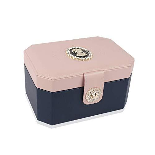 AJH Sieraden Oorbellen Oorbellen Ketting Cosmetische opbergdoos Ringdoos Eenvoudige Europese prinses met slot Houten horlogebox Sieradendoos