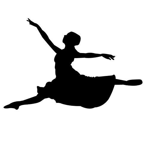 Vinilo Saltador de Ballet Dancer Silueta Tatuajes de Pared Danza Estudio Decoración Gilrs Dormitorio Etiqueta de La Pared Afhesive Art Mural 88 * 59 CM