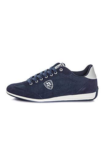Redskins Falto Sneaker aus Segeltuch, Marineblau weiß, Blau - marineblau - Größe: 41 EU