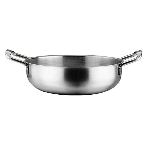 Marmite en acier inoxydable Ramen Pot d'or Pot de fruits de mer Écrevisses Hot Pot Petit Pot de fer Pot à fond plat Cuisine Marmite, Siliver Pot Huangwei7210 (Color : Siliver Pot)