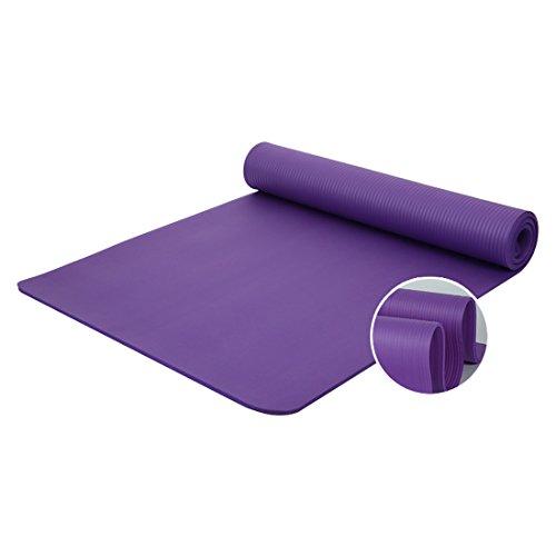 ZENUTA Yogamatte Gymnastikmatte rutschfest mit Tragegurt dick und sehr weich Pilates Gymnastikmatte umweltfreundlich phthalatfrei 183 x 61 x 1 cm