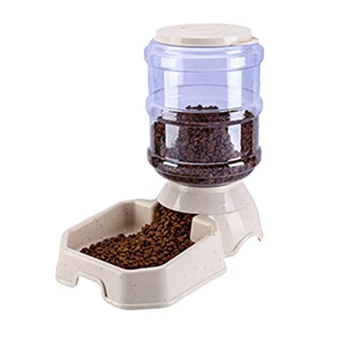 MGJX Alimentador Automático De Comida Para Perros De Gran Capacidad De 3.8L, Juego De Agua, Dispensador De Fuente Desenchufado, Bebedero, Cuenco De Alimentación Automática Para Cachorros Pequeños Y Gr