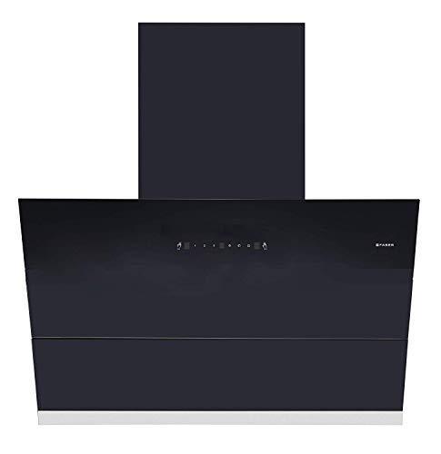 Faber 90 cm 1500 m³/hr angular Kitchen Chimney (HOOD APEX FLHC SC BK 90, Filterless...