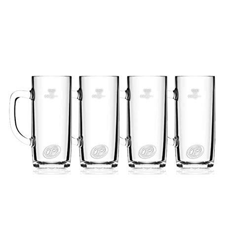 Beer Buddy 4 Stück Glas Seidel 0,5l. inkl. Magneten