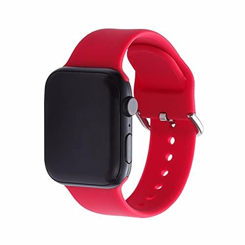 JJGS Correa Compatible con la Correa del Reloj de Apple 38/40mm la Correa de reemplazo de la Pulsera de los Deportes de Silicona de la Hebilla del Pin de Silicona Adecuado para iWatch SE/IWatch Serie