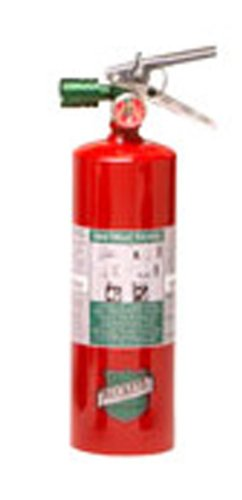 Buckeye 70258 Halotron Hand Held Fire Extinguisher with Aluminum Valve and Wall Hook, 2.5 lbs Agent Capacity, 3-3/8