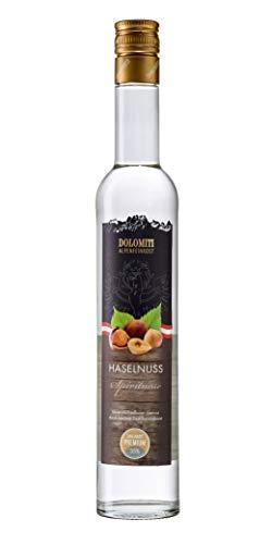 DOLOMITI Haselnuss Schnaps │Premium Spirituose 35% vol. │ Nuß-Schnaps │0.5 Liter