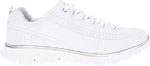 Skechers Women's Synergy-Elite Status Trainers, White (White/Silver), 6.5 UK