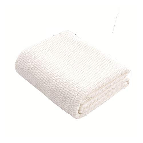 JDJD Lit Couverture Confortable Gaufcle Tissage Couverture Coton De Poids Moyen De Goûter des Couvertures Super pour Toutes Les Saisons Améliorez Votre Décor À La Maison