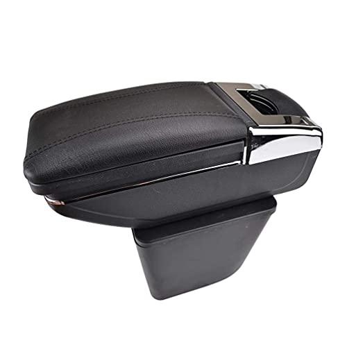Caja de reposabrazos de cuero para consola de coche, se adapta a Chevrolet Nexia Daewoo Kalos Gentra 2003-2011 Organizadores de consola central Apoyabrazos Almacenamiento de almacenamiento, Accesorio