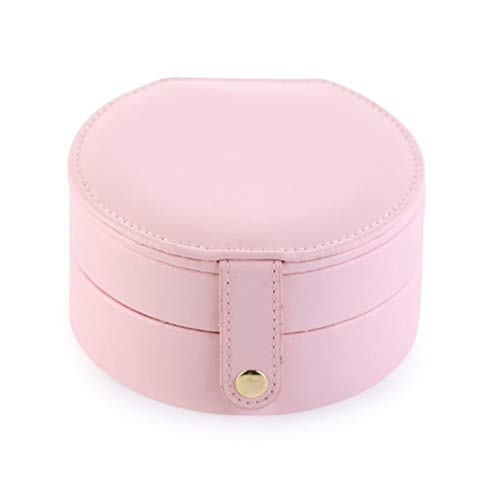 ZFFLYH Multi-Layer Jewelry Box, Semi-Circular Design, Easy To Carry, Large-Capacity Jewelry Box Made of Pu Material, It Is A Storage Box for Earrings, Earrings, Earrings,D