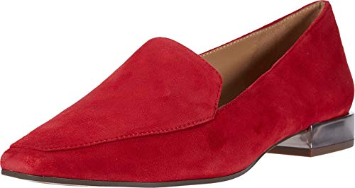 Naturalizer womens Clea Loafer, Hot Sauce Suede, 7.5 Narrow US