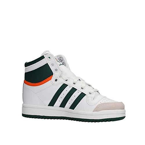 adidas Kinder Low Originals Top Ten HI Sneaker Kids Weiss Grü EF2838 weiß 785988