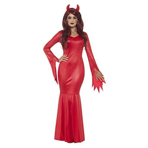 SMIFFYS Costume amante del diavolo, Rosso, con vestito e corna effetto lucido