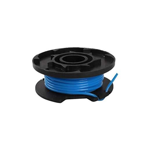Segar Línea al aire libre cuerda de nylon Segadora de hierba Segadora Carrete Carretes reemplazo de siega Accesorios, azules, 2 piezas