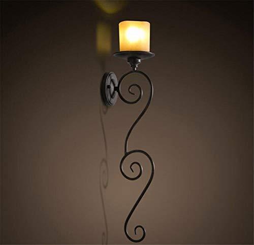 YLCJ Wandlamp, wandlamp, wandlamp, wandlamp, kamer, veranda, Catwalk, trap, enkele kaars, hoofd, kandelaar, vintage stijl, wanddecoratie