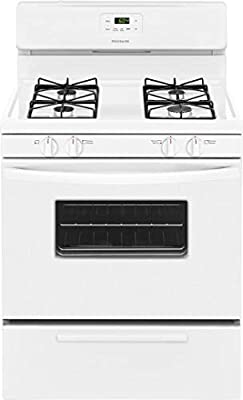 "Frigidaire FFGF3016TW 30"" Freestanding Gas Range, 4.2 cu.ft. Capacity, 2 Oven Racks Backguard Broil and Serve Drawer 4 Sealed Gas Burners and Low Simmer Burner in White"