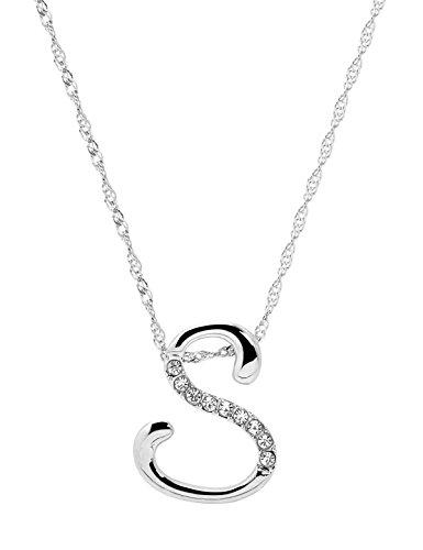 Paialco Jewelry argento iniziale nome lettera collana lunga catena 50,8cm e Lega, colore: Silver, cod. JN10304SV0S