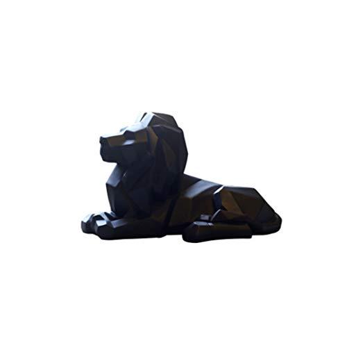 LKXZYX Escultura de Resina de León Abstracta Moderna geométrica León nórdico fe Estatua de Animal artesanías decoración de Arte de Vida Silvestre decoración de Adorno