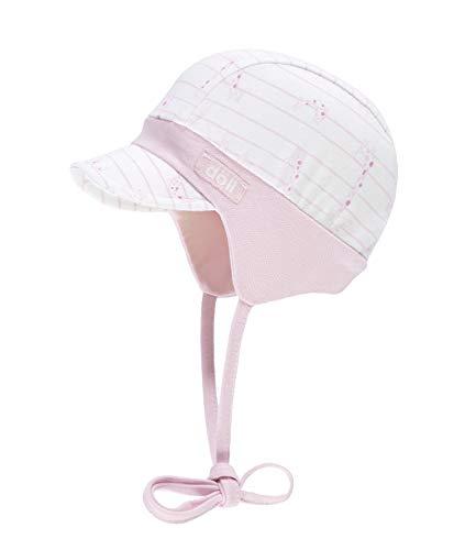 Döll Baby-Mädchen Bindemütze mit Schirm Jersey Sonnenhut, Rosa (Pink Lady|Rose 2720), 49