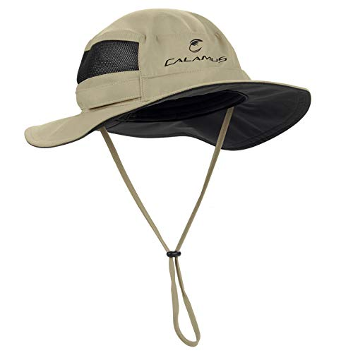 Calamus UPF 50 Boonie Sun Hat– Sun Protection Hat, Fishing Hat, Beach & Hiking Hat, Golf Hat, Hunting Hat, Paddling, Rowing, & Kayaking - Kaki