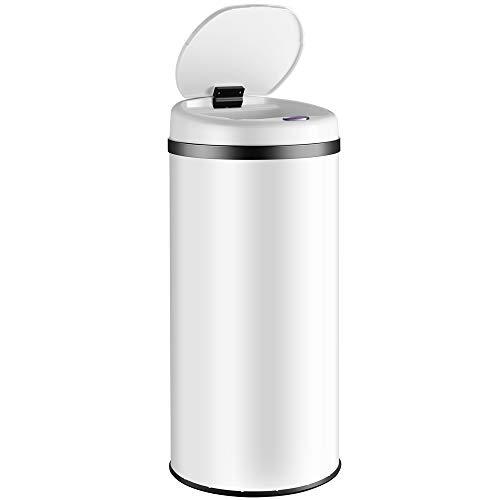 Deuba Sensor Abfalleimer 56L Automatischer Mülleimer LED Anzeige Müllbehälter berührungslos Bewegungssensor wasserdicht