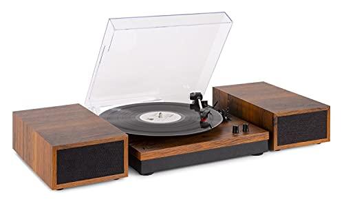 Fenton RP165 - Platine Vinyle avec 2 Haut-parleurs intégrés – Bois, Technologie Bluetooth, 3 Vitesses de disques 33 ⅓, 45 et 78...