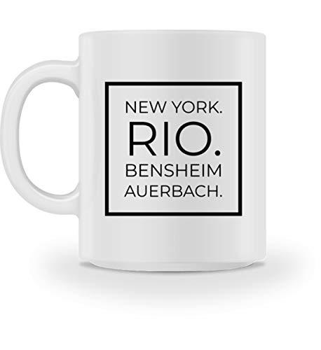 Bensheim Auerbach - Tasse -M-Weiß