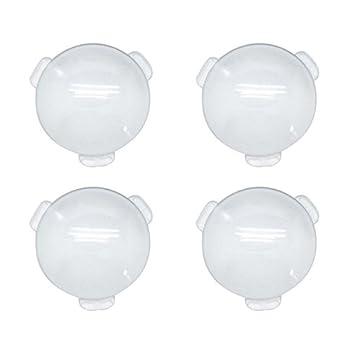 Biconvex Lens Set Pop-Tech Glass Lens Bi-Convex 34mm Diameter 45mm Focal Length Lens for DIY Google Cardboard VR